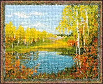 click here to view larger image of Autumn Day (counted cross stitch kit)