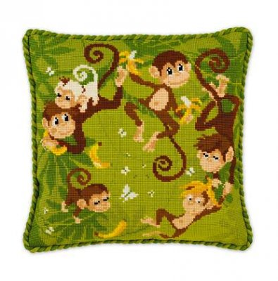 click here to view larger image of Jungle Cushion (counted cross stitch kit)