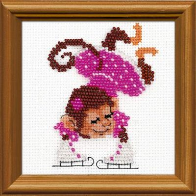 click here to view larger image of Figure Skater (counted cross stitch kit)