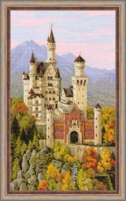 click here to view larger image of Neuschwanstein Castle (counted cross stitch kit)