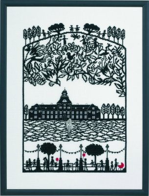 click here to view larger image of Papercut Castle - Linen (counted cross stitch kit)