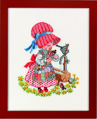 click here to view larger image of Girl With Water Trough (counted cross stitch kit)