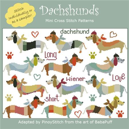 click here to view larger image of Dachshunds (chart)
