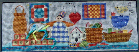 click here to view larger image of Basket Row (chart with charms/buttons)