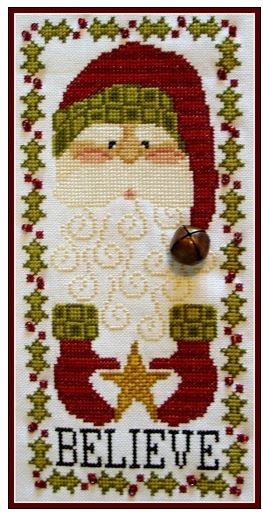 click here to view larger image of Charmed Santa Believe (chart with charms/buttons)