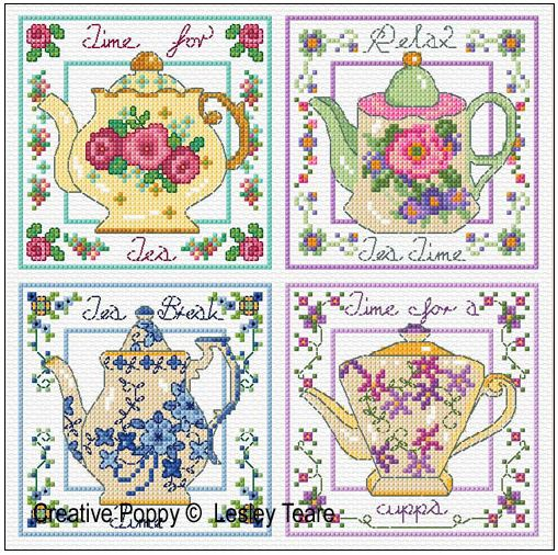 click here to view larger image of Decorative Teapots (chart)
