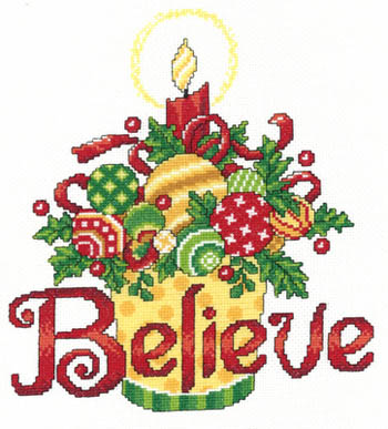 click here to view larger image of Believe Ornaments (chart)