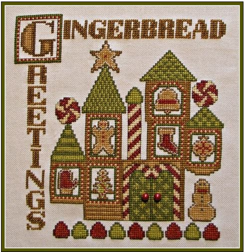 click here to view larger image of Charmed Gingerbread Greetings (chart with charms/buttons)