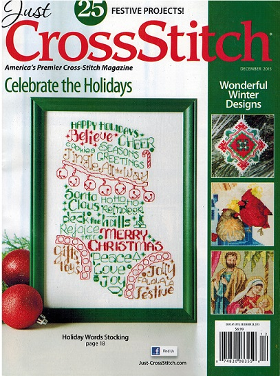 click here to view larger image of Just Cross Stitch - December 2015 (magazines)