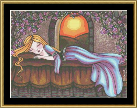 click here to view larger image of Fairy Tale Collection - Sleeping Beauty (chart)