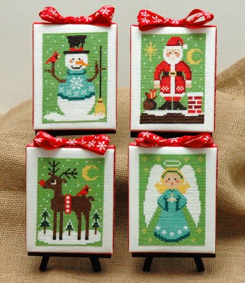 click here to view larger image of Christmas Cuties (4 Designs) (chart)