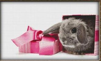 click here to view larger image of Baby Rabbit With Gift (chart)