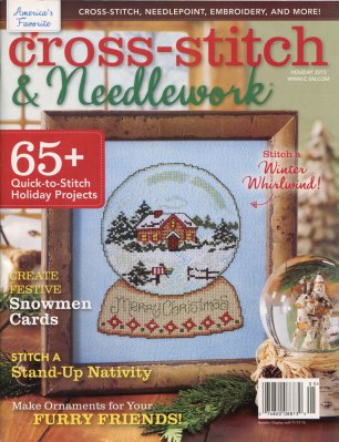 click here to view larger image of Cross Stitch & Needlework Magazine - Holiday 2015 (magazines)