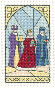 click here to view larger image of Wise Men - Christmas Cards by Susan Ryder (counted cross stitch kit)