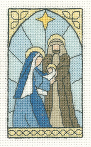 click here to view larger image of Nativity Scene - Christmas Cards by Susan Ryder (counted cross stitch kit)