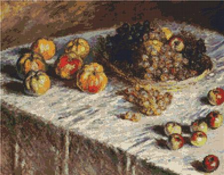 click here to view larger image of Still Life With Apples and Grapes (chart)
