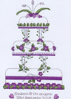 click here to view larger image of Wedding Cake - Lili of the Valley Occasions (chart)