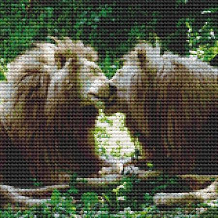 click here to view larger image of Nuzzling Lions (chart)