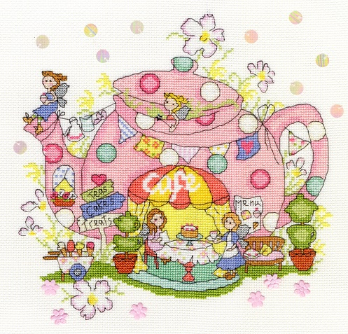 click here to view larger image of Fairy Teapot (counted cross stitch kit)