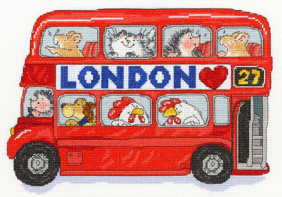 click here to view larger image of London Bus (counted cross stitch kit)