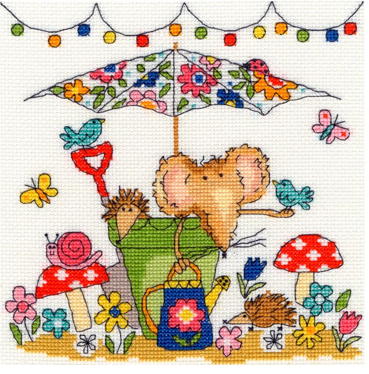 click here to view larger image of Garden Mouse (counted cross stitch kit)