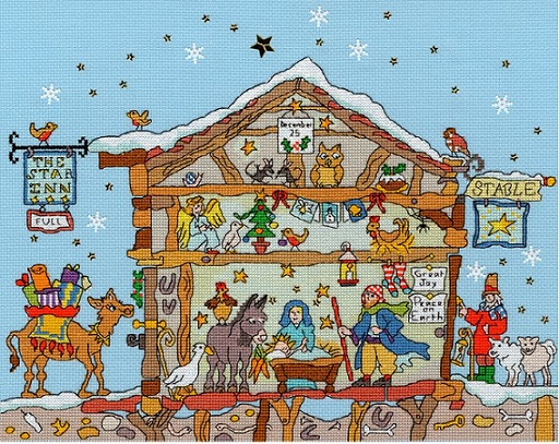 click here to view larger image of Cut Thru Nativity (counted cross stitch kit)