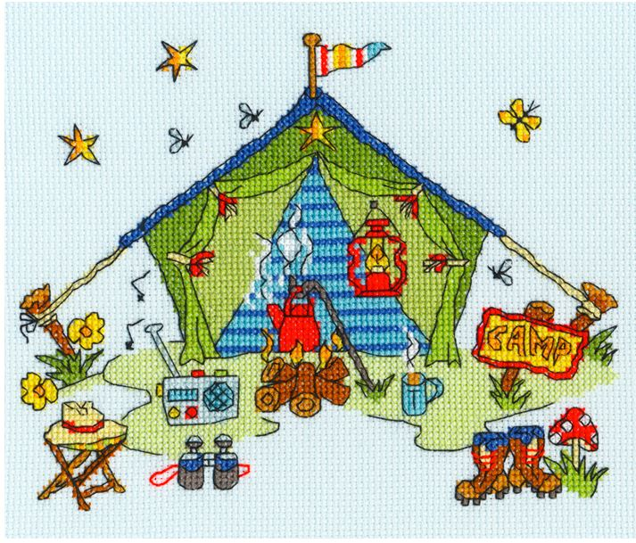 click here to view larger image of Sew Dinky Tent (counted cross stitch kit)