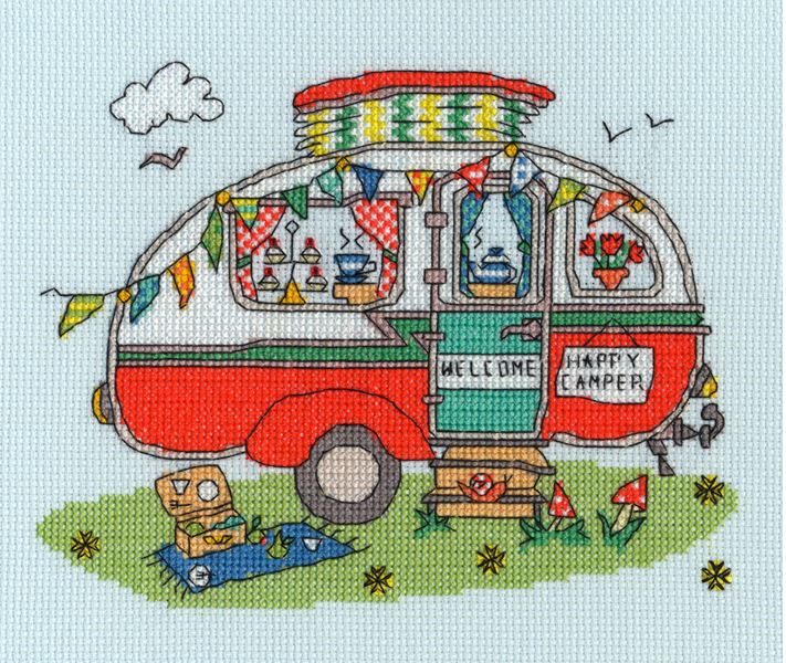 click here to view larger image of Sew Dinky Caravan (counted cross stitch kit)