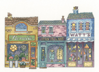 click here to view larger image of High Street (27ct) (counted cross stitch kit)