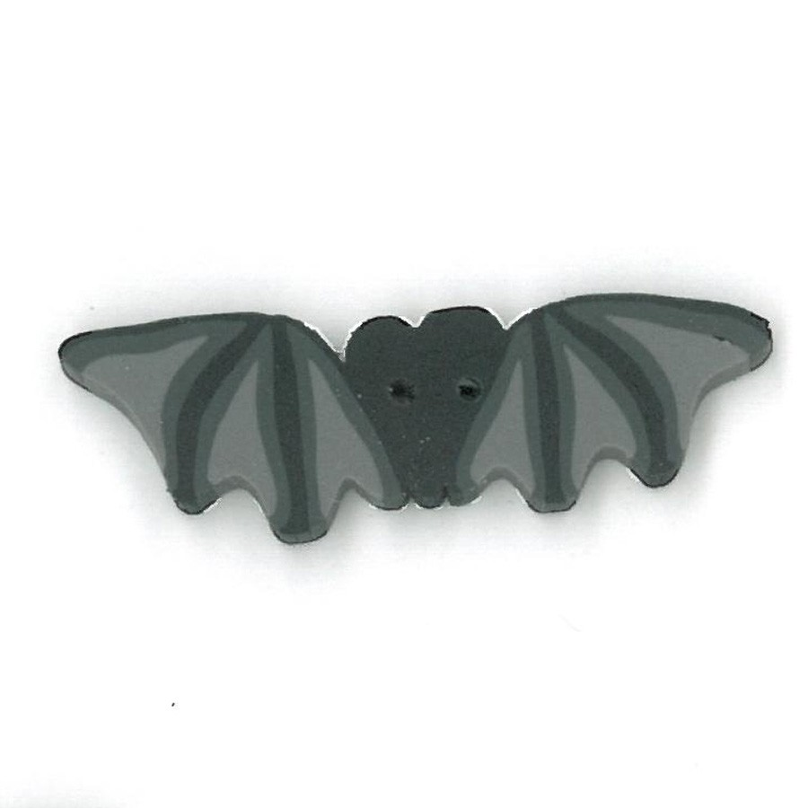 click here to view larger image of Flaying Black Bat Button - Large (buttons)
