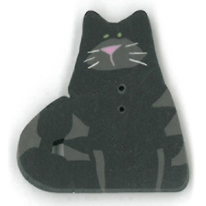 click here to view larger image of Very Black Cat Button - Large (buttons)