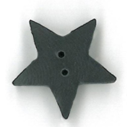 click here to view larger image of Black Star Button - Large (buttons)