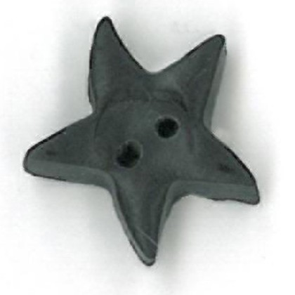 click here to view larger image of Black Star Button - Medium (buttons)