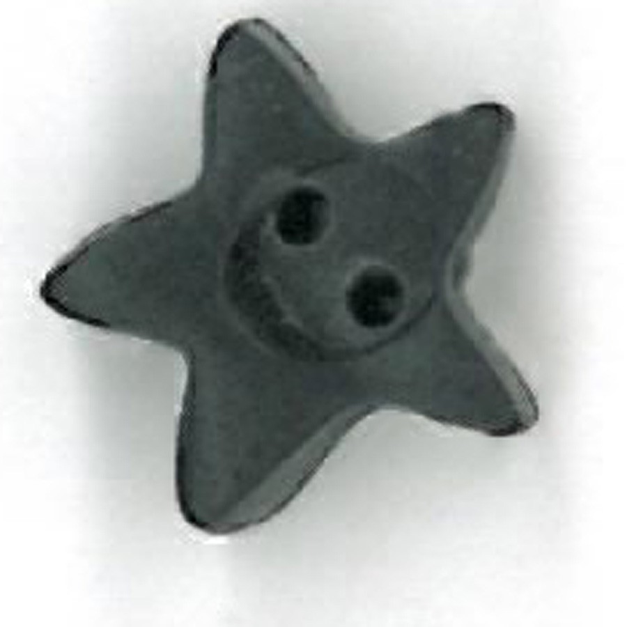 click here to view larger image of Black Star Button - Small (buttons)