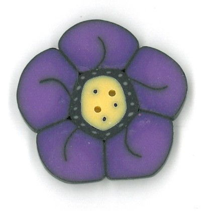 click here to view larger image of Large Violet Wildflower - Crayon Box Collection (buttons)