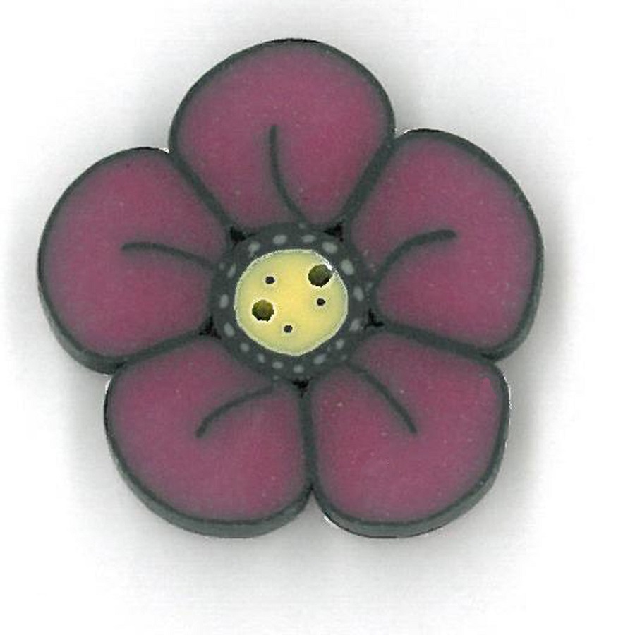 click here to view larger image of Small Raspberry Wildflower - Crayon Box Collection (buttons)