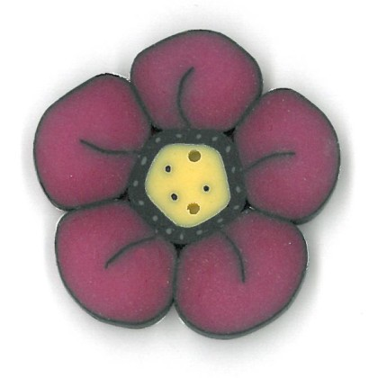 click here to view larger image of Large Raspberry Wildflower - Crayon Box Collection (buttons)