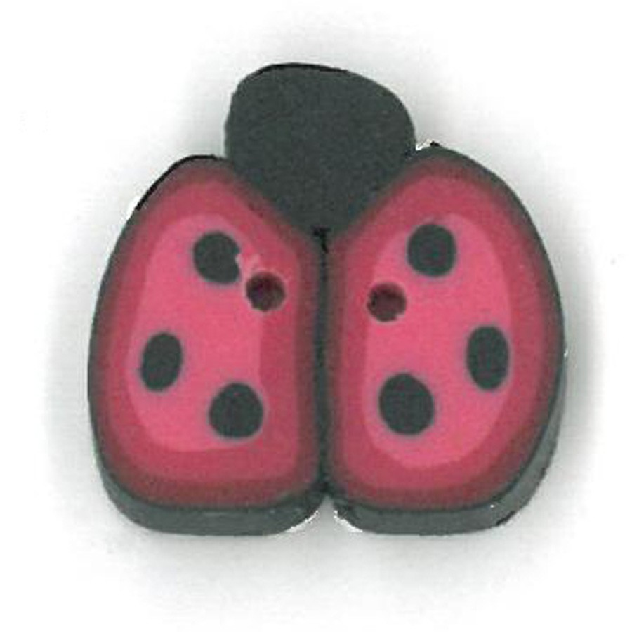 click here to view larger image of Cranberry Ladybug - Small (buttons)