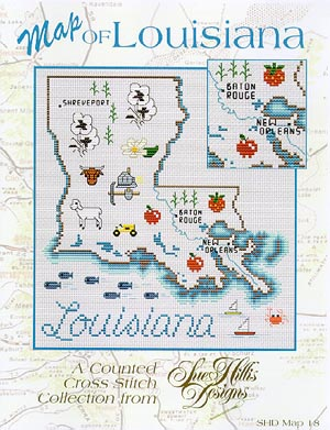 click here to view larger image of Louisiana Map (chart)