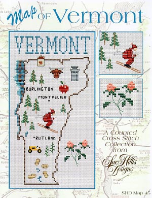 click here to view larger image of Vermont Map (chart)