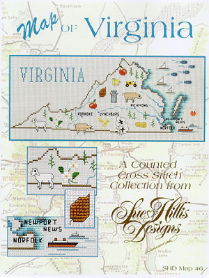 click here to view larger image of Virginia Map (chart)