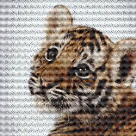 click here to view larger image of Adorable Tiger Cub (chart)