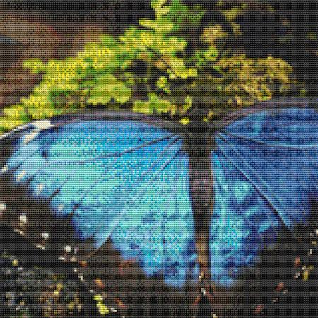 click here to view larger image of Bright Blue Butterfly (chart)