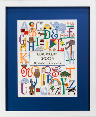 click here to view larger image of Bright Alphabet Birth Announcement (chart)