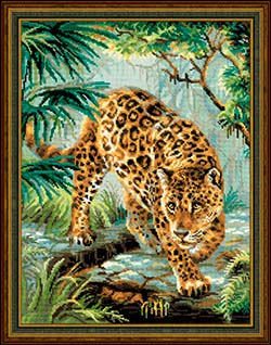 Owner of the Jungle - click here for more details about counted cross stitch kit