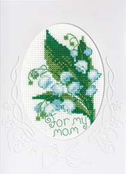 click here to view larger image of Card For My Mother (counted cross stitch kit)