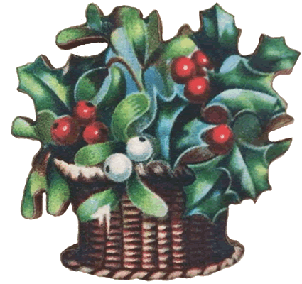 click here to view larger image of Holly Basket Needle Minder (accessory)