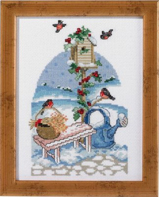 Nest Box Organizer - click here for more details about counted cross stitch kit