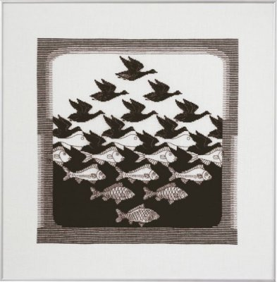 click here to view larger image of Bird / Fish - Dark (counted cross stitch kit)