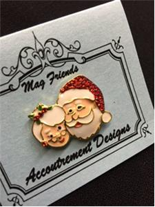 click here to view larger image of Classic Mr and Mrs Claus Magnet (accessory)